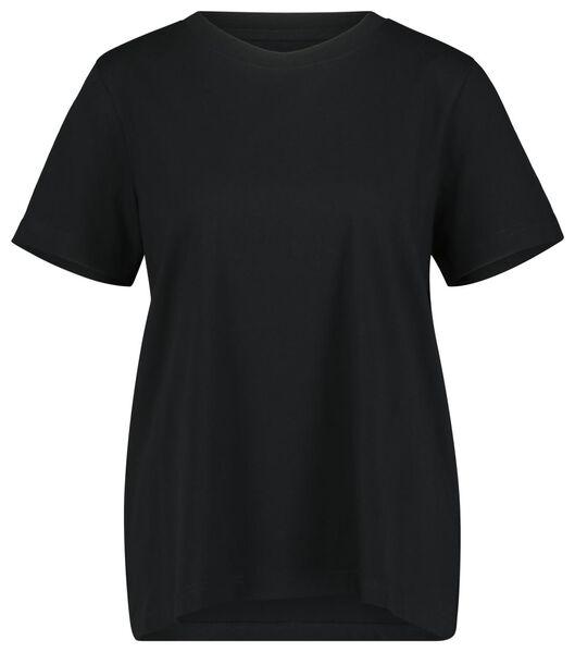 dames t-shirt zwart L - 36394783 - HEMA