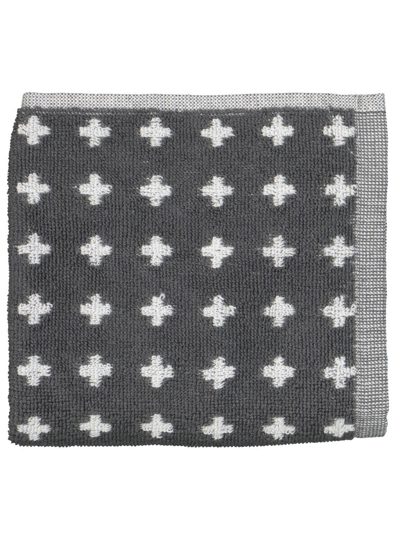 HEMA Keukendoek - 50 X 50 - Katoen - Grijs Kruisjes (donkergrijs)
