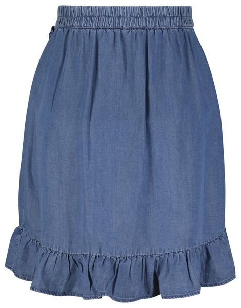 dames rok denim blauw blauw - 1000023998 - HEMA