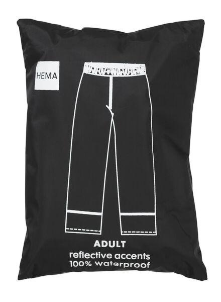 opvouwbare unisex regenbroek zwart XL - 34460024 - HEMA
