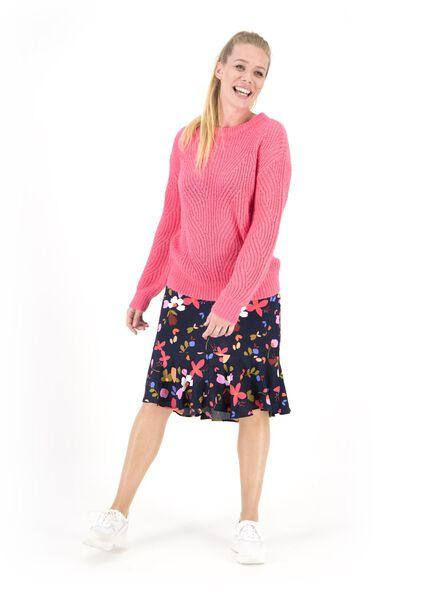 damestrui gebreid roze roze - 1000015471 - HEMA