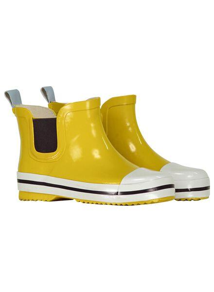kinder regenlaarzen - laag model - rubber geel geel - 1000013741 - HEMA