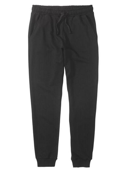 heren sweatbroek zwart zwart - 1000009786 - HEMA
