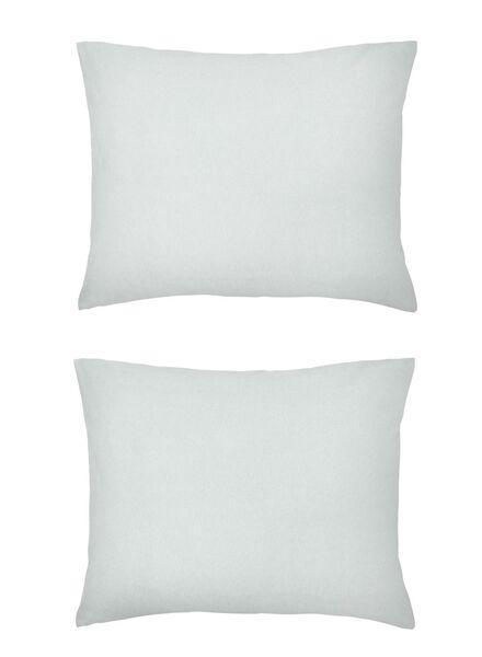 kussenslopen - jersey katoen - grijs lichtgrijs 60 x 70 - 5140129 - HEMA