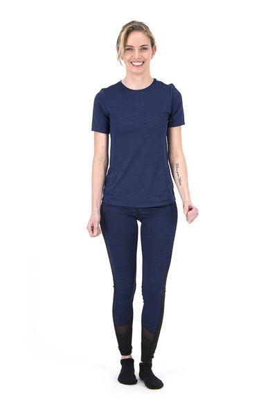 dames sportlegging blauw blauw - 1000018823 - HEMA