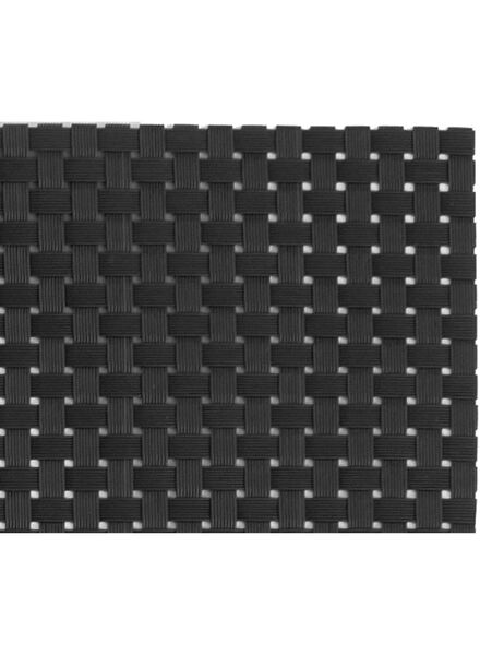 placemats - 32 x 42 - kunststof - zwart - 2 stuks - 5360009 - HEMA