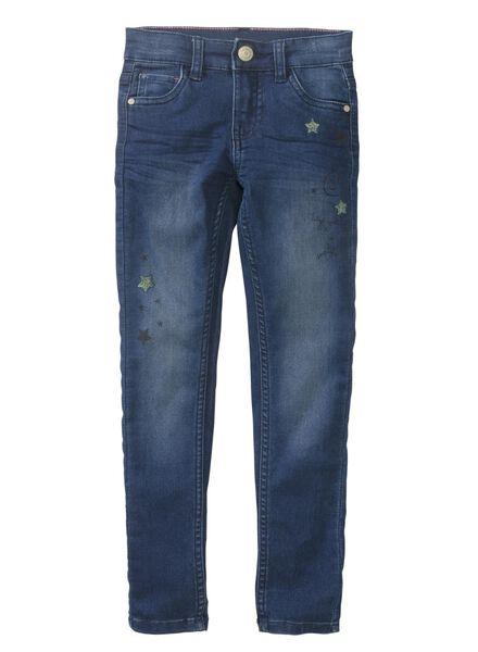 kinder skinnybroek blauw blauw - 1000011243 - HEMA