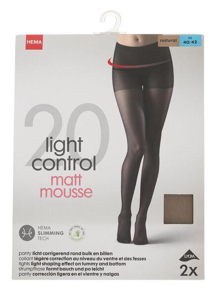2-pak panty's licht corrigerend 20 denier naturel naturel - 1000000927 - HEMA