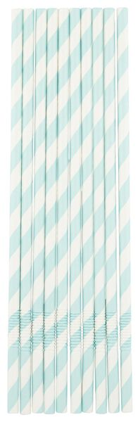 papieren rietjes - 22 cm - groen/wit gestreept - 20 stuks - 14230191 - HEMA