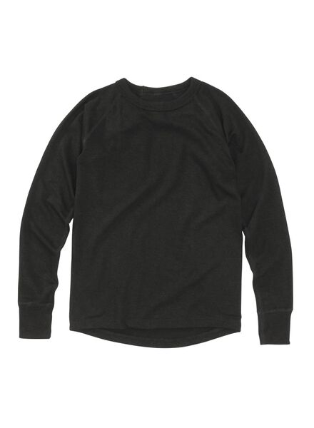 kinder thermo t-shirt zwart 122/128 - 19309213 - HEMA