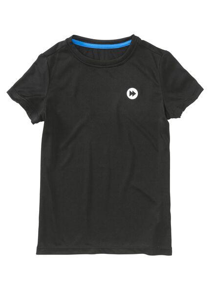 kinder sport t-shirt zwart zwart - 1000003661 - HEMA