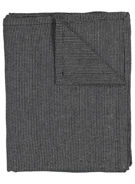 tafelkleed - 140 x 240 - cambray katoen - zwart/wit - 5300072 - HEMA