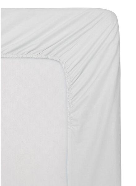 hoeslaken - katoen - 90 x 220 cm - wit wit 90 x 220 - 5150028 - HEMA