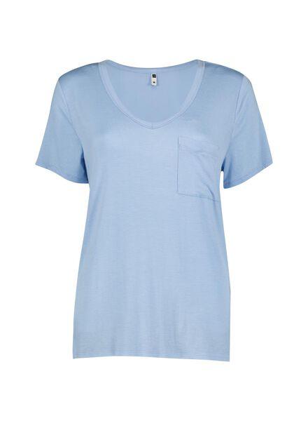 dames t-shirt lichtblauw lichtblauw - 1000013622 - HEMA