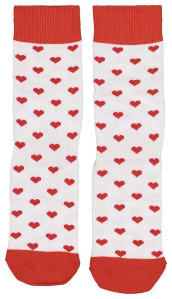 sokken maat 36-41 hartjes - 61122824 - HEMA