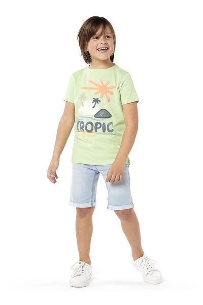 kindershort comfy fit lichtblauw lichtblauw - 1000018955 - HEMA