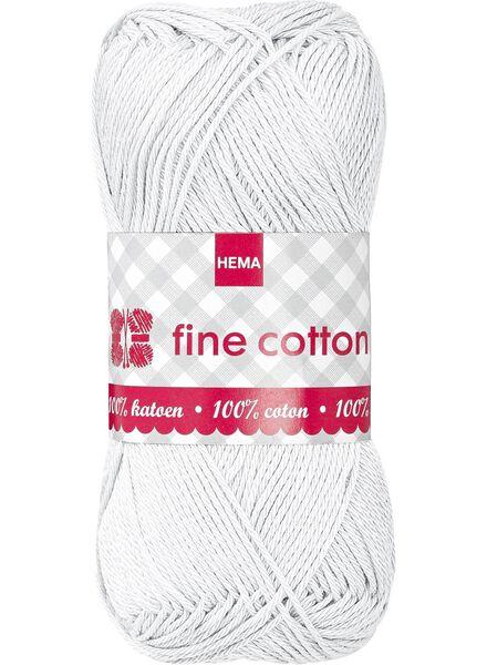 breigaren fine cotton fine cotton wolwit - 1400009 - HEMA