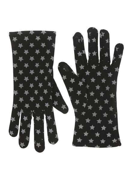 dameshandschoenen zwart zwart - 1000011309 - HEMA