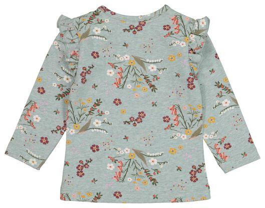 baby t-shirt bloemen blauw blauw - 1000020894 - HEMA