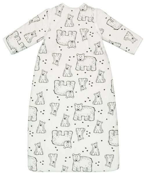 babyslaapzak - padded - afritsmouw - beren wit gebroken wit gebroken wit - 1000020003 - HEMA