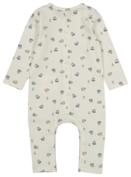 newborn jumpsuit gebroken wit 74 - 33410315 - HEMA
