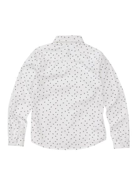 kinderoverhemd wit wit - 1000011050 - HEMA