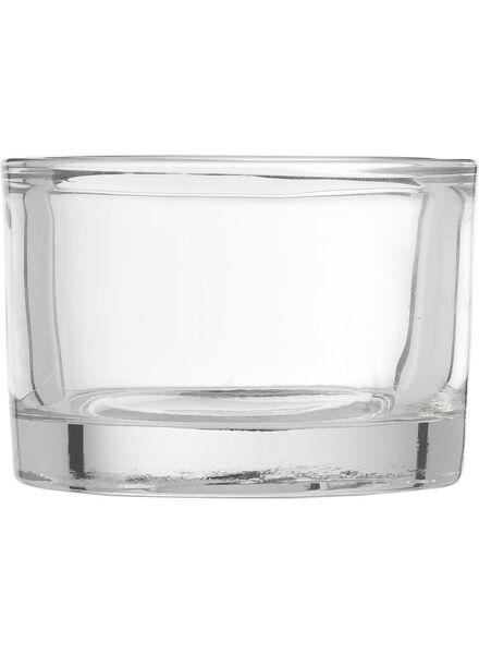 sfeerlichthouder - 5.5 x Ø 8 cm - transparant glas - 13311246 - HEMA