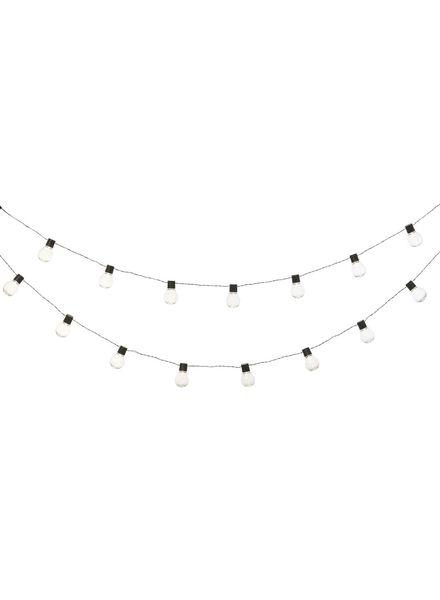 verlichtingssnoer - 5 meter - transparant - 20 ballen - 13100022 - HEMA