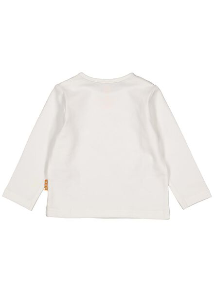 newborn t-shirt - romper bamboe stretch - happy play sleeping wit wit - 1000013860 - HEMA