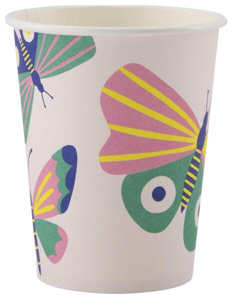 kartonnen bekers 250ml vlinder - 8 stuks - 14200400 - HEMA
