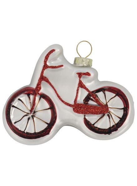 glazen kersthanger fiets 2x8x6 - 25104801 - HEMA