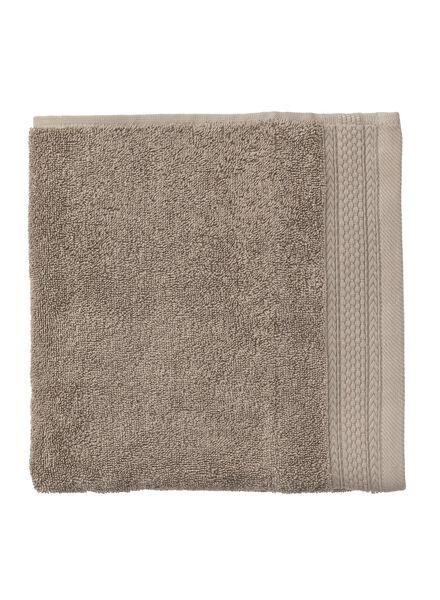 handdoeken - hotelkwaliteit taupe taupe - 1000015159 - HEMA