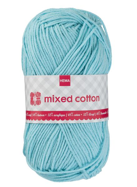 breigaren mixed cotton - blauw mixed cotton blauw - 1400159 - HEMA