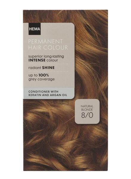 haarkleuring natural blond 8/0 - 11050010 - HEMA