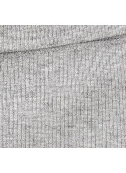 newborn-prematuur broek bamboe stretch grijsmelange grijsmelange - 1000013403 - HEMA