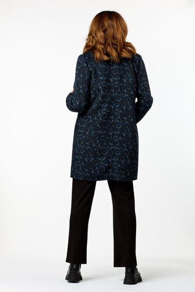 damesjas met wol donkerblauw donkerblauw - 1000024823 - HEMA