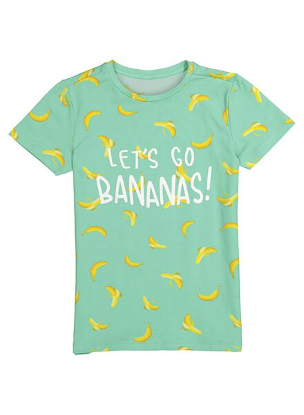 kinder t-shirt - Bananas&Bananas aqua aqua - 1000014184 - HEMA