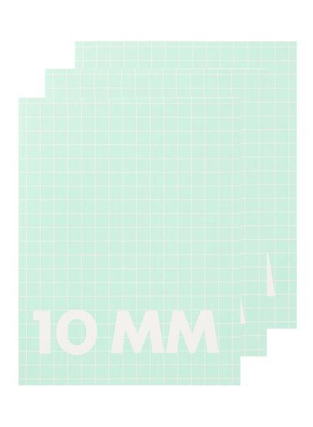 3-pak A5 schriften geruit 10mm - 14522501 - HEMA