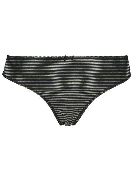 3-pak damesstrings katoen zwart/wit zwart/wit - 1000014502 - HEMA