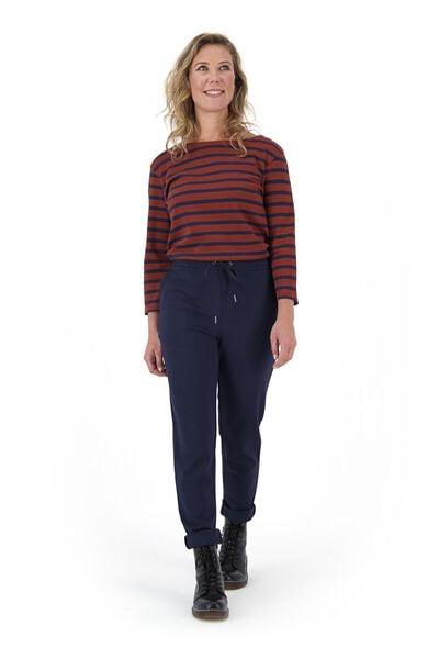 dames t-shirt boothals bruin S - 36329838 - HEMA