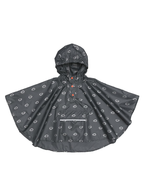 opvouwbare kinderponcho grijs