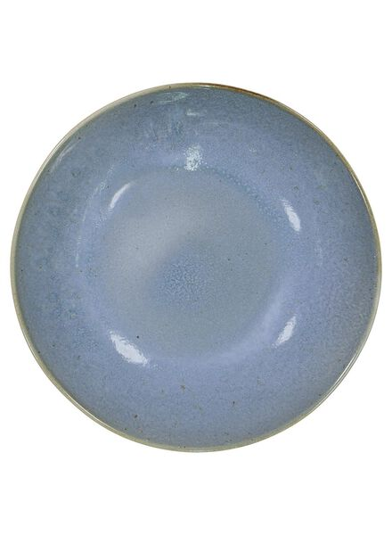 diep bord - 21 cm - Porto - reactief glazuur - blauw - 9602023 - HEMA