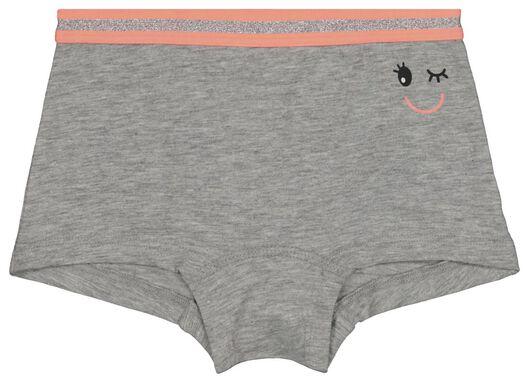 3-pak kinderboxers grijsmelange grijsmelange - 1000018430 - HEMA