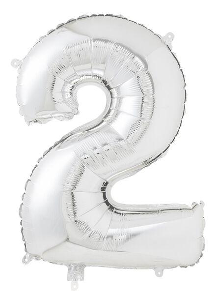XL folie ballon cijfer 2 - 60800154 - HEMA