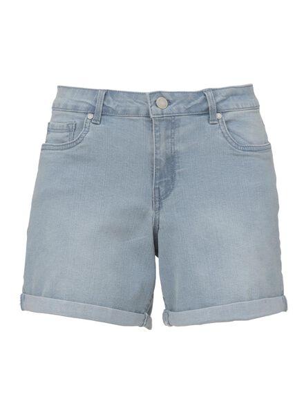 dames korte broek lichtblauw lichtblauw - 1000012930 - HEMA