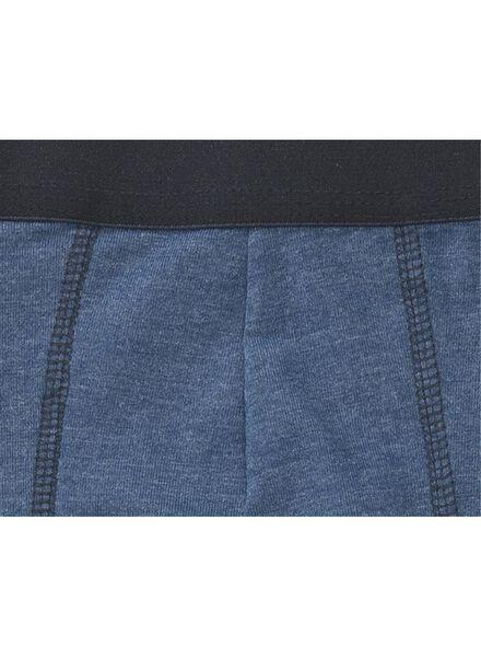 3-pak herenboxers lang blauw blauw - 1000009344 - HEMA