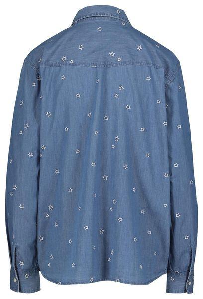 damesblouse middenblauw middenblauw - 1000018139 - HEMA