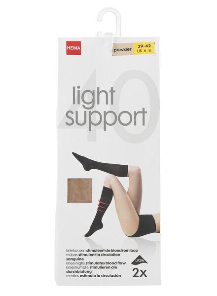 2-pak kniekousen licht ondersteunend 40 denier poeder poeder - 1000000882 - HEMA
