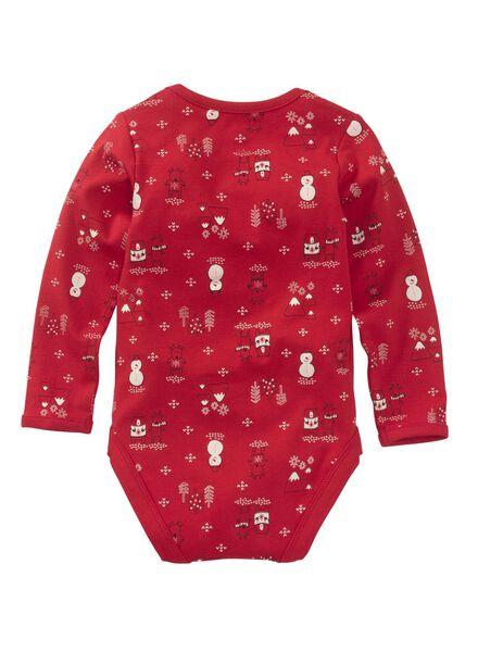 newborn romper - katoen stretch rood rood - 1000010681 - HEMA