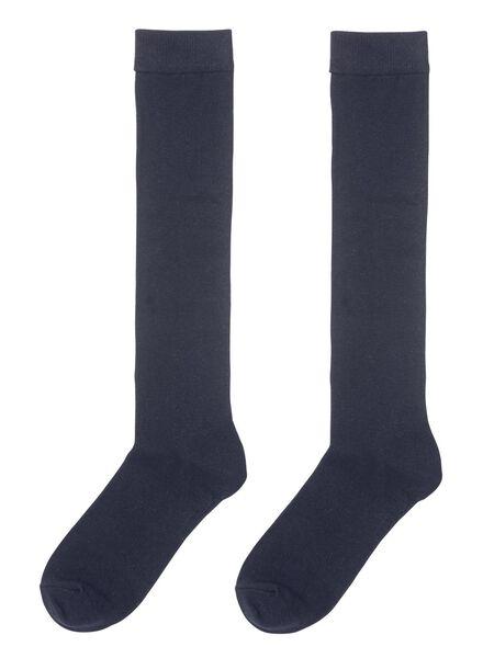 2-pak dames kniekousen donkerblauw donkerblauw - 1000001712 - HEMA